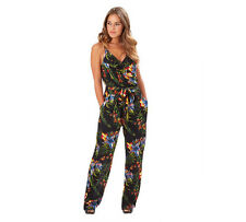 Joe Browns Totally Tropical Jumpsuit Size UK 10 Multi Colour Floral Print