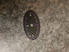 FORD MONDEO MK3 01-07 BLACK FACED purple carbon insert replacement TIME CLOCK +