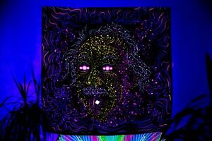 Psychedelic Blacklight Art Blotter UV Fluorescent Glow Psytrip Psyart Backdrop