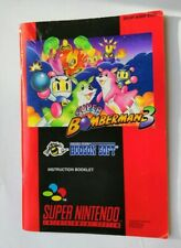 Super Bomberman 3  Game Boy Instruction Book MANUAL ONLY rare