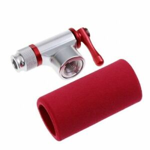 CO2 Tyre Inflator Pump With Insulated Sleeve, Presta & Schrader Valve Compatible