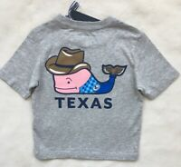 VINEYARD VINES Boys Texas Cowboy Whale Pocket Tee Gray NWT SIZE 2T