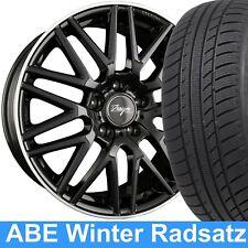 """18"""" ABE Z Design Winterräder Schwarz 235/45 Reifen für Mercedes GLA Klasse 245G"""