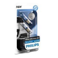 Philips WhiteVision H6W Glühlampe mit weißem Xenon-Effekt, 2 Stück