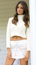 Brand New Size M/L Le Salty Byron Bay Cream Beach Boho Festival TurtleNeck