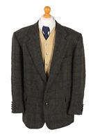 Harris Tweed Blazer Jacket Mc Neal Windowpane Size XL-HT2449