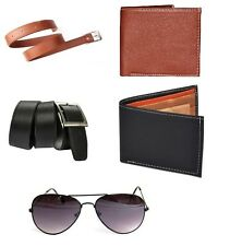 Combo of 5 products 2 Belts 2 Wallets and 1 Sunglass Free Light LED Free ship