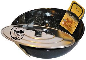 24cm - 28cm Deep Induction Two Handles Pan + Lid , Wok , Karahi ,Paella Pan