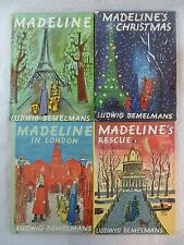 Lot of 4 Ludwig Bemelmans MADELINE Christmas In London Rescue Viking