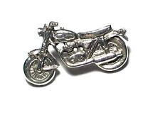 Classic Motorbike pewter pin badge, Motorsports,