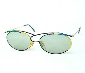 CASANOVA LC 23 sunglasses vintage gold green yellow pink purple unusual rainbow
