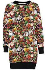 Mehrfarbige Damenkleider im Tuniken-Stil mit S