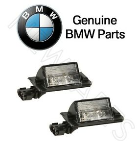 For BMW E36 318i 318ti 323i 325i 328i M3 Set of 2 License Plate Lights Genuine