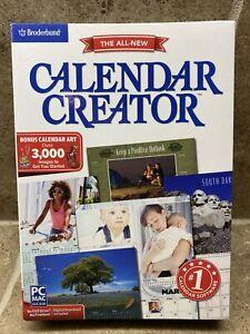 🔥Broderbund Calendar Creator V13 for Windows & Mac SEALED Box BEST DEAL!🔥