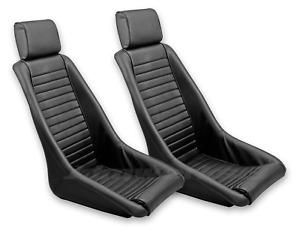 RETRO CLASSIC KPGC12 VINTAGE RACING BUCKET SEATS (ALL PVC) PAIR