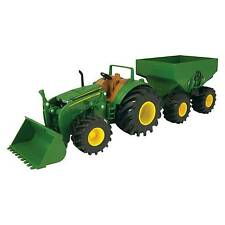 20cm John Deere Monster Treads Lights&sounds Tractor and Wagon