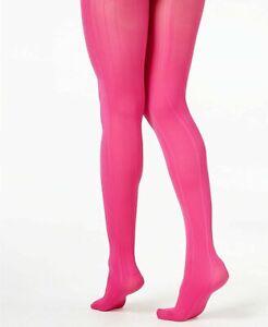 HUE Tights Variegated Stripe Control Top Dark Rose Pink Small / Medium $15 - NWT