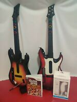 Nintendo Wii Lot Of 2 Guitar Hero Rock Band & Redoctane _Game Aerosmith