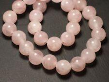 1pc - Perle de Pierre - Quartz Rose Boule 14mm gros trou 3mm - 8741140019508