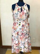 Nicole Miller Women's 10 Dress NWT Floral Keyhole Midi Maxi Lined GORGEOUS