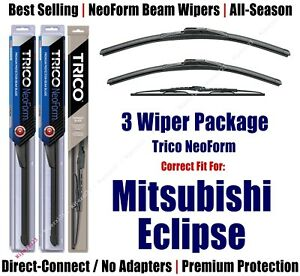 3pk Wipers NeoForm Front + Rear fit 1995-1996 Mitsubishi Eclipse 16240/220/30190