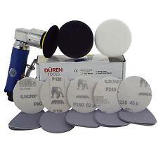 "75 Mm De Aire Mini sander/polisher Kit (3 "") 25 los discos de lijar + Pulido & Espuma Jefes"