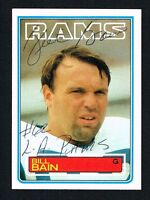 Bill Bain 1983 Topps Football #87 signed autograph auto Trading Card