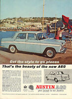 original large colour advert 1962 . austin a60 : you invest in an austin