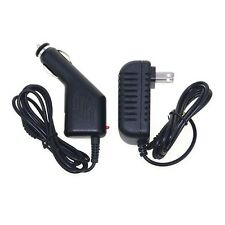 Car DC Charger + AC Adapter for Visual Land VL-879-8GB-BLK-ICS Android Tablet