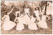 Tanz oder Rhytmische Gymnastik Ausdruckstanz New German Dance  Foto RPPC um 1920