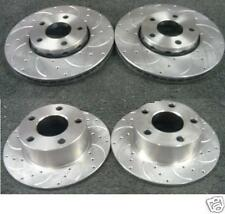 AUDI A6 ALLROAD 2.5TDi QUATTRO BRAKE DISC CROSS DRILLED GROOVED FRONT REAR