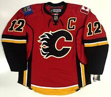 JAROME IGINLA CALGARY FLAMES CANADA EDGE AUTHENTIC REEBOK 7181A NHL JERSEY 52