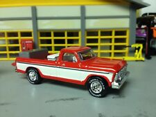 1/64 Hot Wheels 79 Ford F150 P.U. in Red/White with a Dog in a Crate in The Bed