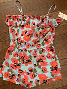 new  BILLABONG DARLING FLORAL ROMPER  SIZE YOUTH LARGE 10/12