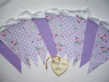 Fabric Bunting Lilac Floral Wedding Celebration Party Decor 3m
