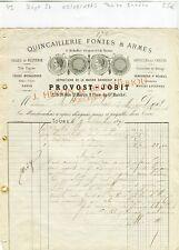 Dépt 37 - Tours 27 Rue St Martin - Petite Entête d'un Armurier de 09/09/1877