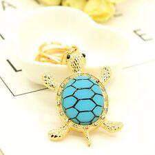 Tortoise Animal Key Ring Gift Metal Crystal Turtle Keychain Jewelry Fashion