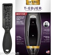Andis T-Edjer Black Trimmer #15430 Model AEE Barber T-Blade + Clipper Brush