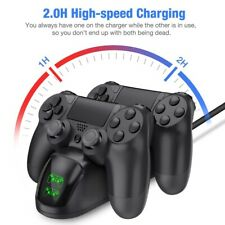 For PS4 Controller Fast Charging Station Dock Stand Dualshock USB Charger Base