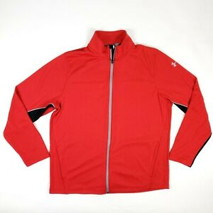 Under Armour UA Red Active Track Jacket Adult Size XL Loose Fit