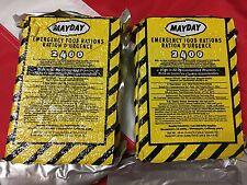 Emergency food ration bar 2400 cal survival disaster camp U get 2 bars  MAYDAY