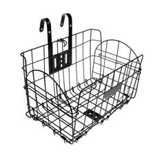 Foldable Bike Basket Bicycle Storage Basket Detachable Front Rear Black