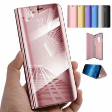 Mirror Case for Samsung Galaxy S8/S8Plus S7 Note 8 Flip Leather Cover Clear View