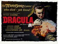 "Dracula 1958 repro UK cinema quad poster 30x40"" Christopher Lee Hammer RARE"