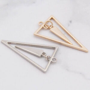 20PC Triangle Earrings Making Gold Plated Silver Charms Eardrop Pendant  L1232