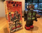 Horikawa Japan Tin Lighted Eyes Attacking Martian Robot & Original Japanese Box