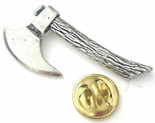 Lumberjack Axe Handcrafted from English Pewter in the UK Lapel Pin Badge