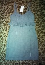 MNG Casual Dress Size Uk6 Strappy Black and White Check With Tags.