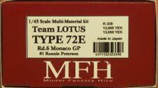 Model Factory Hiro 1/43 Lotus 72E Monaco GP 1974 Multi Material Kit K-339 Japan