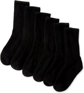 Jefferies Socks Boys' 240495 Seamless Sport Crew Half-Cushion Socks Size M 12-6